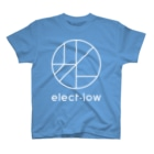 elect-lowのelect-lowロゴ入り_縦型_白抜きver T-shirts