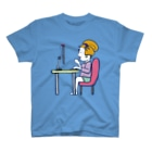 Oedo CollectionのRemote Working Girl/濃色Tシャツ T-shirts