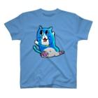 だんち(¯﹃¯)のあおいねこ(艶) T-shirts