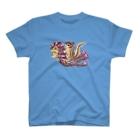 """""""little shop""""福士悦子のシマリスくんとアマビエちゃん T-shirts"""