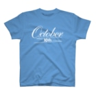 シンプルロゴtシャツbyアンディのOctoberロゴtシャツ(白文字) T-shirts