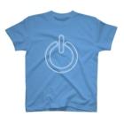 イラストレーターみやもとかずみのオリジナルグッズ通販 ∞ SUZURI(スズリ)の電源ボタン T-shirts