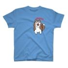 Dream Dog World 【夢犬】のにたりハスキー みんとちゃん でゅふ T-shirts
