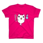 タキヲ@スタンプ販売「どうぶつくん」のおばけねこ。(生きろ) Tシャツ