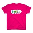 ゆっちょのへんてこやのSMILE+背景付きヨコ T-shirts