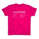 I LOVE Coca-Cola!の05_CALIFORNIA_white T-Shirt
