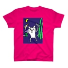 ぼくのあとりえ。のネコです。今夜は寝かさないVersion Tシャツ