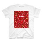 ASB boxingclub SHOPのASBスタッフキャラクターアイテム(赤) T-shirts