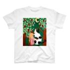 Free rougeの女の子と牛 T-shirts