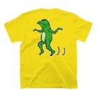 前田創作工房の蛙歩く T-shirtsの裏面