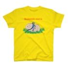 nins・にんずのかわいいモルモット・チェコ語ロゴA(ベージュ) T-shirts