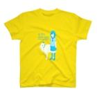 なで肩うさぎの美香堂のヤギと水色女子高生 T-shirts
