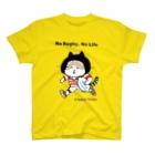 ほっかむねこ屋(アトリエほっかむ)のラグビーねこ T-Shirt