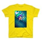 neon light starsのチャイナ T-shirts