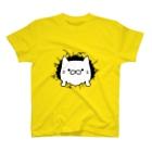 エクレアンショップの破いた穴から出てくるネコ T-shirts