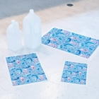 アリムラモハのサメの詰め合わせ Stickable tarpaulinのサイズ比較(A2、A3、A4)