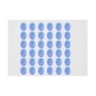 水草のスーパーブルー玉 Stickable posterの横向き