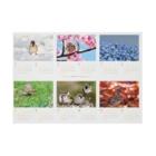 aliveONLINE SUZURI店の東京すずめカレンダー2020(B-Type) Stickable tarpaulinの横向き