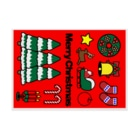 NICE ONEのMerry Christmas Stickable posterの横向き