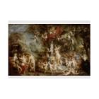世界の絵画アートグッズのピーテル・パウル・ルーベンス 《ヴィーナスの饗宴》 Stickable Posterの横向き
