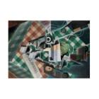世界の絵画アートグッズのフアン・グリス 《チェックのテーブルクロスのある静物》 Stickable Posterの横向き