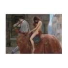世界の絵画アートグッズのジョン・コリア 《ゴダイヴァ夫人》吸着ポスター Stickable Posterの横向き