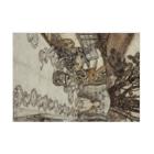 世界の絵画アートグッズのアーサー・ラッカム《不思議の国のアリス》 Stickable Posterの横向き