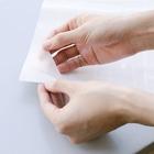 げーむやかんの萌え三つ編みピンク水着青チェック背景 Stickable tarpaulinは貼ってはがせる素材