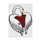 猟奇的彼女のheart lock swan Stickable tarpaulin