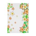 Lily bird(о´∀`о)の舞うプルメリア 横長ターポリン Stickable tarpaulin