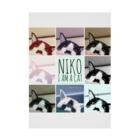 高橋わたがしのNIKO I am a cat Stickable poster