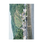 FUCHSGOLDのドイツ:ライン河畔の風景写真 Germany: Riverside view of rhein Stickable poster