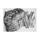 Tomoharu MitsudairaのEX-libris  犬の蔵書票 Stickable tarpaulinの横向き