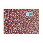 NEZUMIZARU STUDIO SHOPのflower planet Stickable Posterの横向き