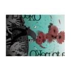 sakiyamaの咲くポスター Stickable tarpaulinの横向き