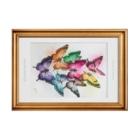 AKI ONLINE SHOP 色のある暮らしの誕生日の色の蝶々 Stickable posterの横向き