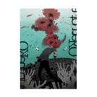 sakiyamaの咲くポスター Stickable tarpaulin