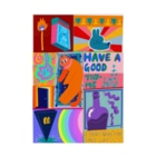 AM_goodsのEarth wind fire water space life Stickable poster