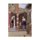 世界の絵画アートグッズのピーテル・デ・ホーホ 《デルフトの中庭》 Stickable Poster