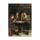 世界の絵画アートグッズのジョン・ジョージ・ブラウン《タフな顧客》 Stickable Poster