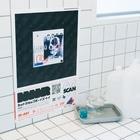 京都のシェア工房REDIY オンラインショップのめいタウン Stickable tarpaulinをタイルに貼った場合