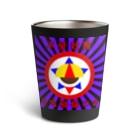𓀇De La でぃすとぴあ𓁍の自宅警備の会 紫黒 Thermo Tumbler