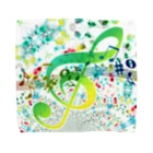 NOMAD-LAB The shopの絵具の飛沫と音符! Towel handkerchiefs