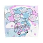 NAOTOONS SHOP SUZURI支店のFloating on a Balloon Towel handkerchiefs