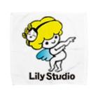 LILY STUDIOの招福の舞チーズ天使 Towel handkerchiefs