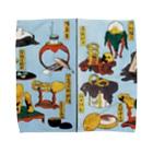 笠岡コンテンツカンパニーの葛飾北斎 大人のおもちゃ Towel handkerchiefs