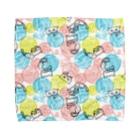 dandyism-neco.com goodsの毛玉ネコ柄 ハンドタオル Towel handkerchiefs