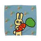 SUZURI×ヤマーフの大きいニンジンとうさぎ Towel handkerchiefs