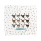 豆つぶのTabbies Cat(集合/肉球ver) Towel Handkerchief