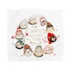 いちごだわし🐹のチャリティグッズ*Winterferrets2019 Towel handkerchiefs